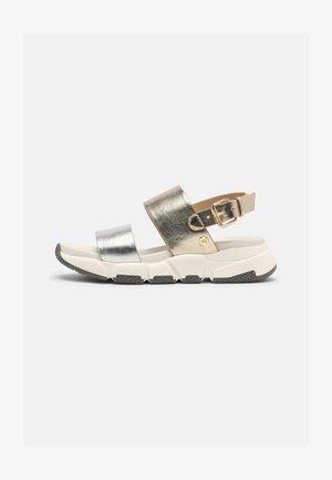 LENNIK - Sandals - plata/oro