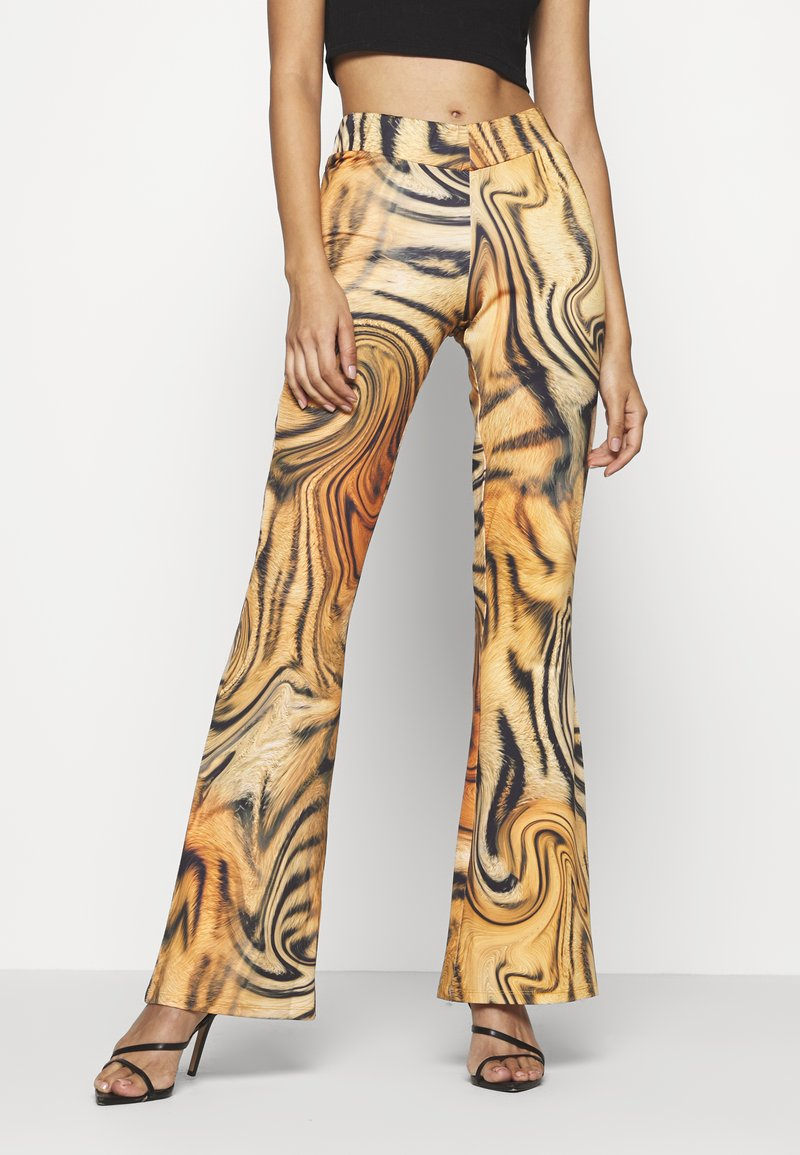 Jaded London - FRONT BOOTCUT TROUSER TIGER SWIRL - Pantalones - multi