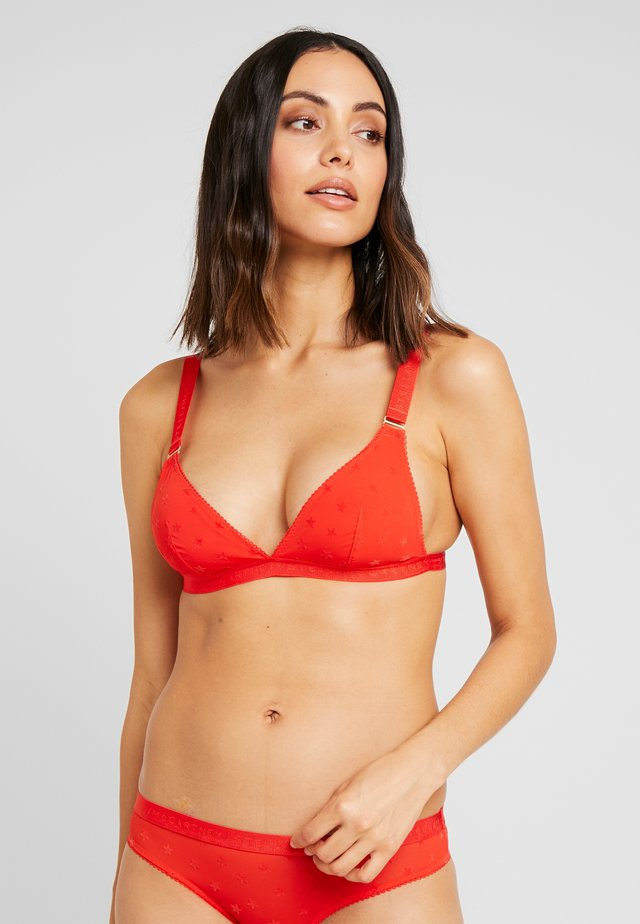 BETTY TWINKLING SOFT CUP - Triangle bra - vermillion red