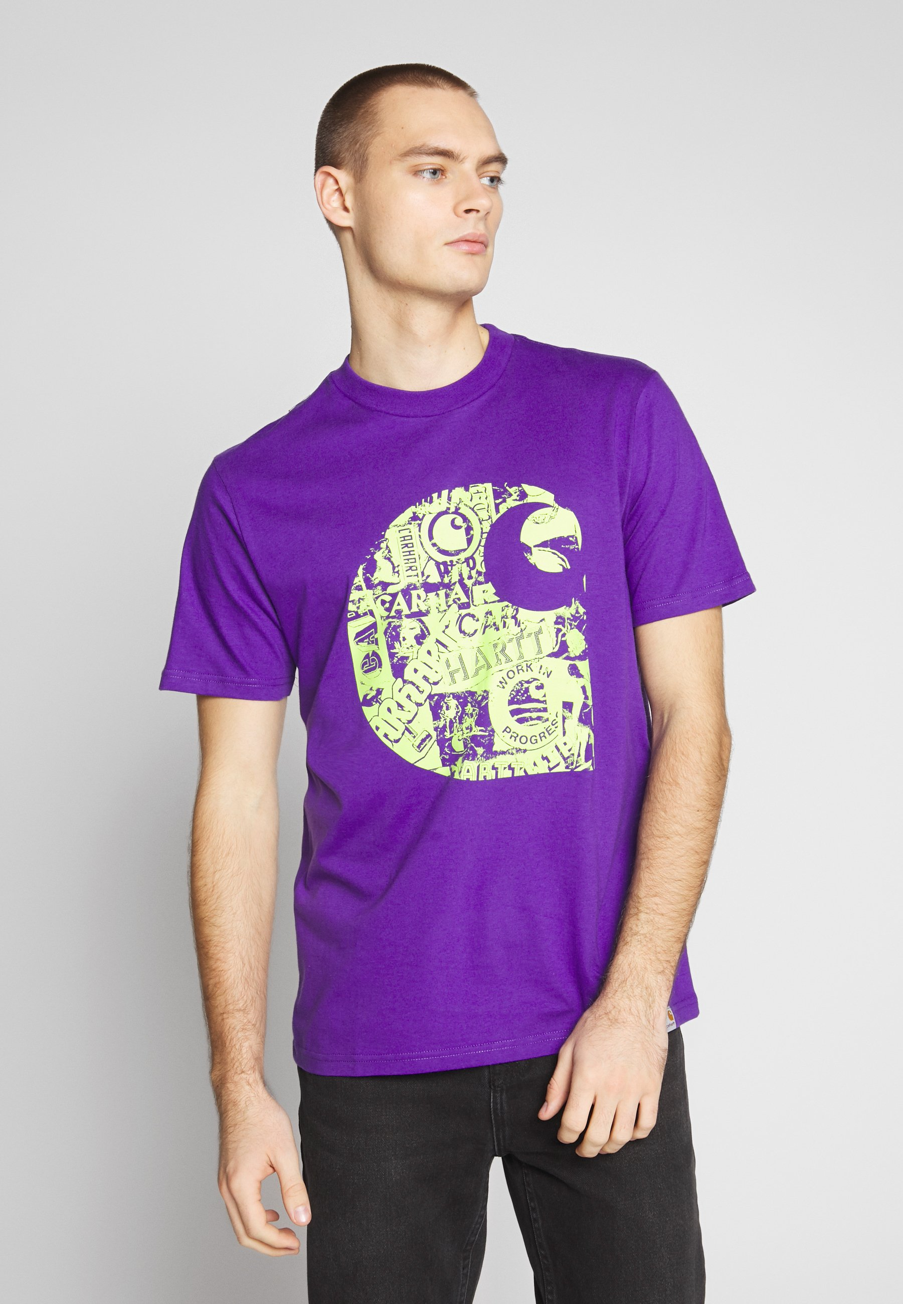 Carhartt WIP COLLAGE  - T-shirts med print - shiraz / sunflower