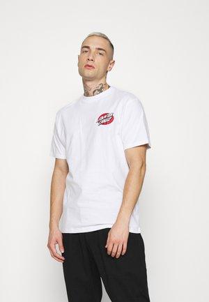 VINTAGE BONE HAND UNISEX - Print T-shirt - white