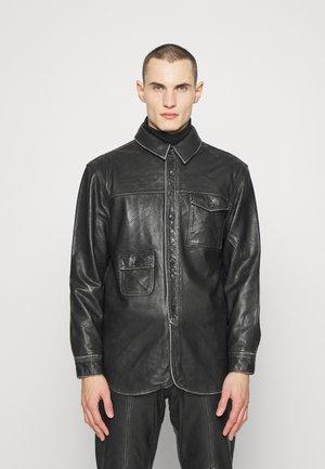 Leather jacket - black leather
