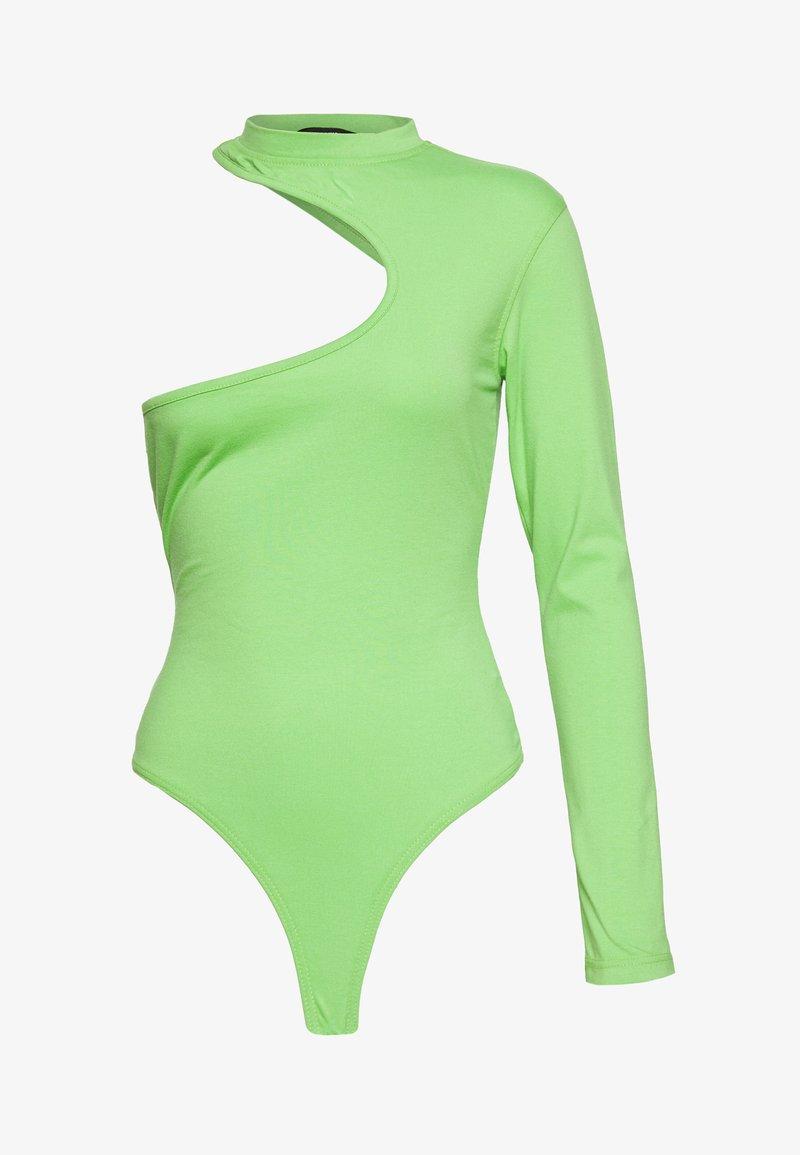 Missguided - FESTIVAL EXCLUSIVE ONE SHOULDER BODYSUIT - T-shirt à manches longues - green