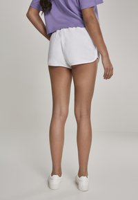 Urban Classics - LADIES TOWEL HOT PANTS - Tracksuit bottoms - white - 2