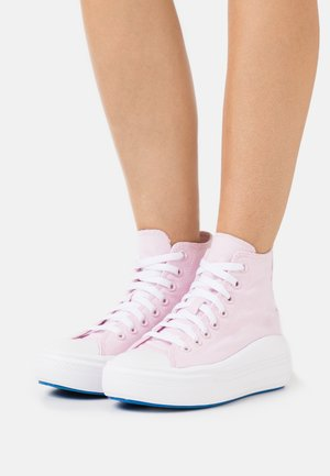 CHUCK TAYLOR ALL STAR MOVE PLATFORM GLOSSY - Sneakers alte - pink foam/digital blue/white