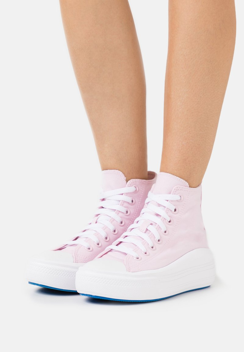 Converse - CHUCK TAYLOR ALL STAR MOVE PLATFORM GLOSSY - Zapatillas altas - pink foam/digital blue/white
