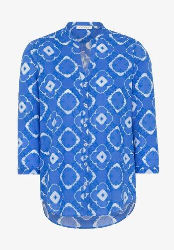 Button-down blouse - blue/white
