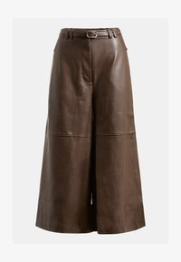 Guess - Leather trousers - braun - 3