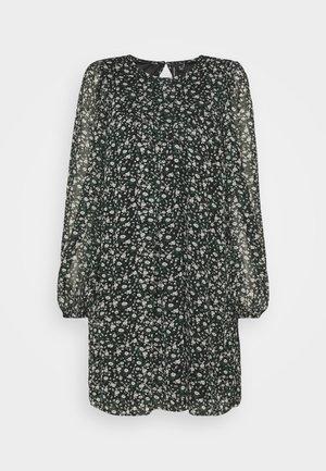 VMALMINA LOOSE SHORT DRESS - Day dress - black/green