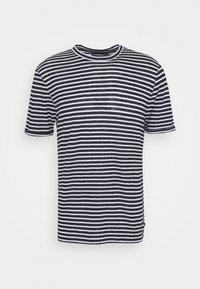 COMA STRIPE - Print T-shirt - navy