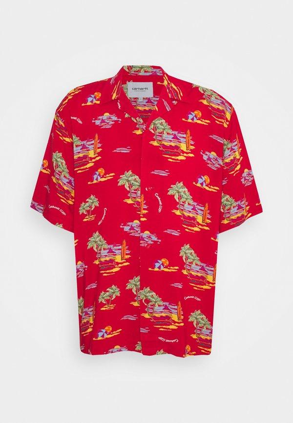 Carhartt WIP BEACH - Koszula - etna red/czerwony Odzież Męska IGGU