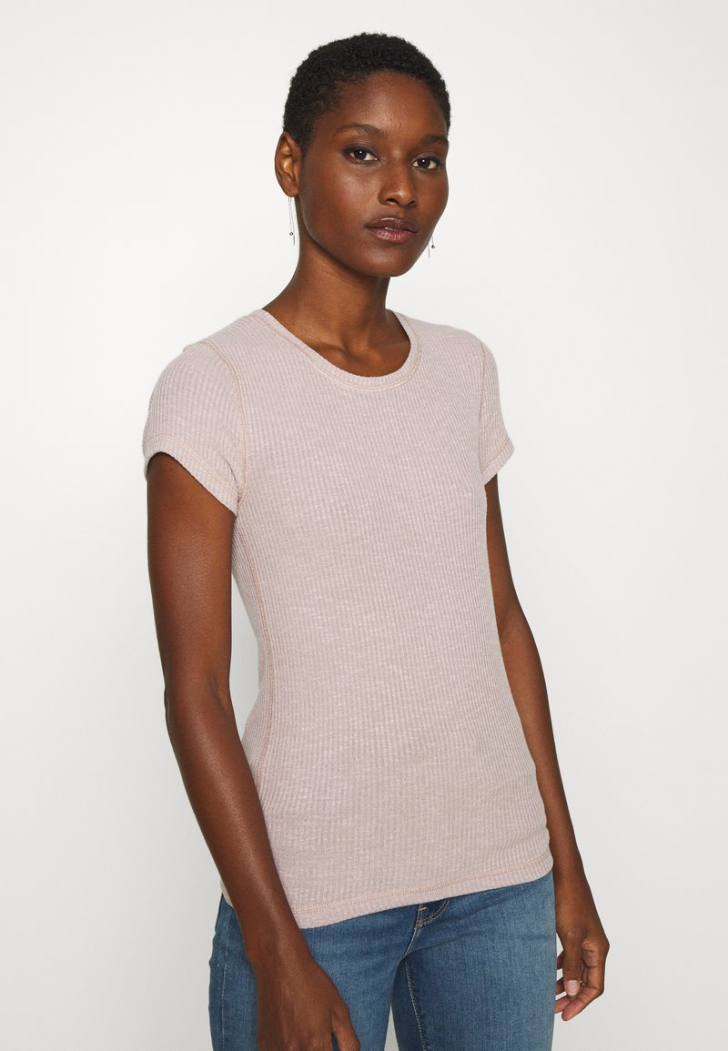 Abercrombie & Fitch - SLIM TEE - Basic T-shirt - pink