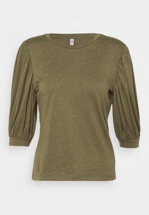 ONLLUCILLA LIFE MIX PUFF - T-shirt print - kalamata