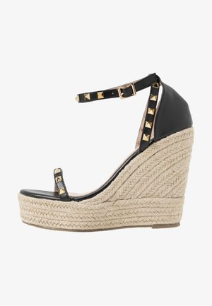 WIDE FIT KORI - Sandalias de tacón - black