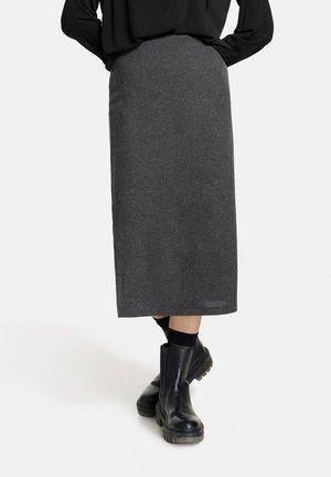 MIT SEITENSCHLITZEN - Pencil skirt - charcoal melange