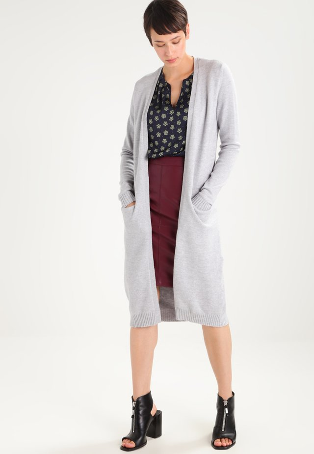 VIRIL LONG CARDIGAN - Cardigan - light grey melange