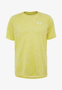 Under Armour - HEATGEAR TECH  - Camiseta estampada - eureka yellow/white - 4