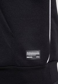 Nike Performance - FC HOODIE - Hoodie - black/white - 4