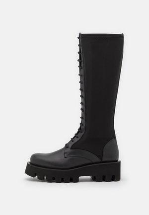 AGNETA - Snørestøvler - black omega
