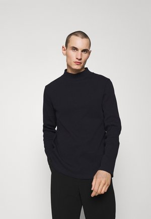 MOCK NECK TEE - Maglione - navy