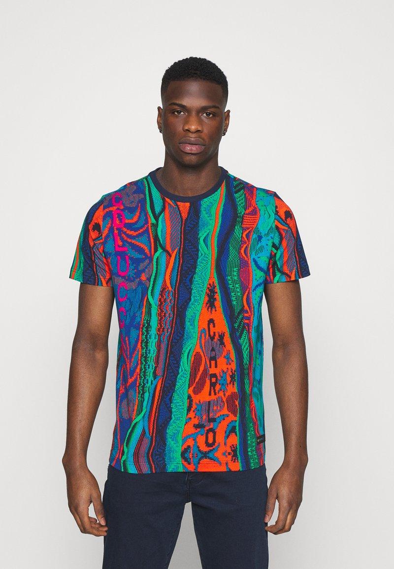 Carlo Colucci - SET - Print T-shirt - navy