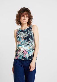 TOM TAILOR DENIM - PRINTED - Topper - colorful tropical green - 0