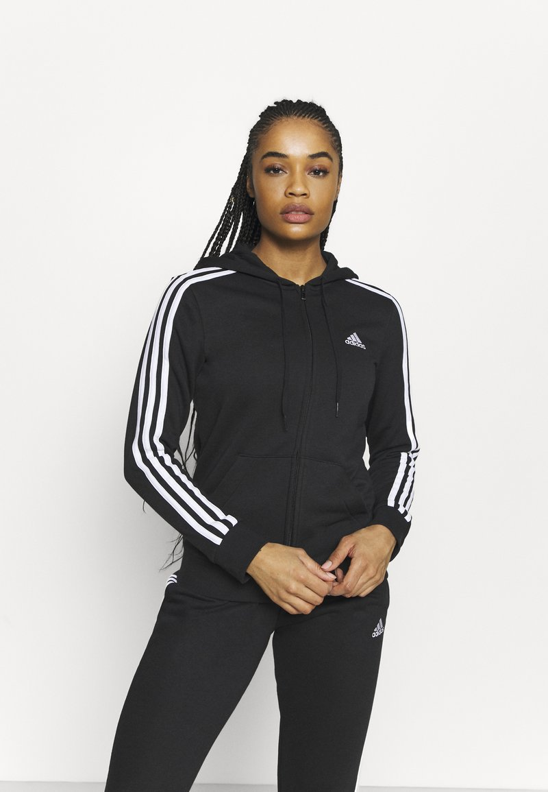 adidas Performance - veste en sweat zippée - black/white