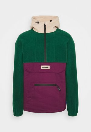 RAW ANORAK - Veste coupe-vent - forest/burgundy/beige