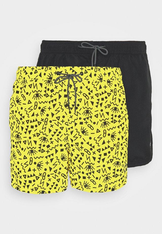 JJIBALI JJSWIM 2 PACK - Badeshorts - vibrant yellow/black solid