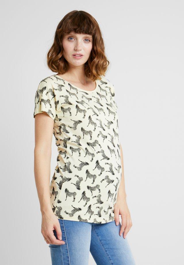 TEE ZEBRA - Print T-shirt - pastel yellow
