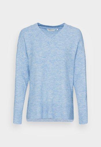 COZY V NECK - Svetr - bel air blue melange