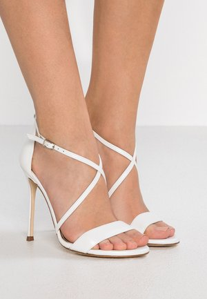 High heeled sandals - glow bone