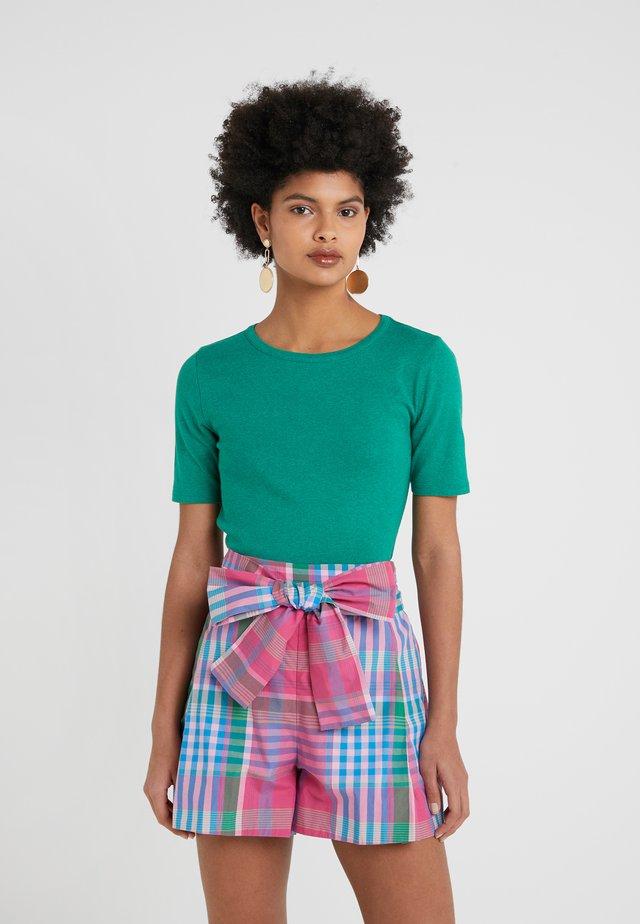 CREWNECK ELBOW SLEEVE - T-shirts - heather emerald green