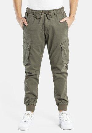 REFLEX RIB CARGO - Cargo trousers - olive