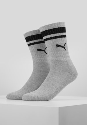 CREW HERITAGE STRIPE  2 PACK - Socks - grey