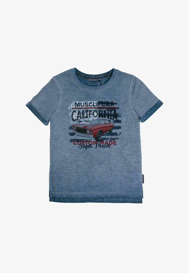 Print T-shirt - smoke blue