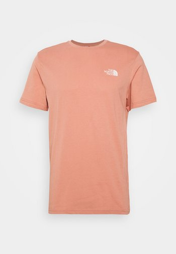 SIMPLE DOME TEE NEW TAUP - T-shirt imprimé - pink clay