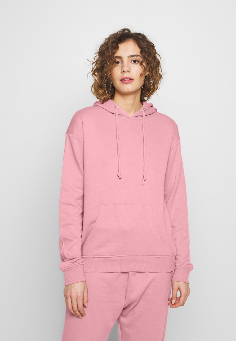Missguided - BASIC HOODY - Mikina skapucí - pink