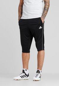 adidas Performance - CORE ELEVEN AEROREADY 3/4 SPORT PANTS - Träningsshorts 3/4-längd - black/white - 0