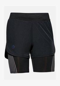Under Armour - W UA RUSH RUN 2-IN-1 SHORT - Sports shorts - black - 2
