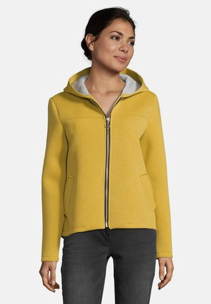 MIT KAPUZE - Zip-up sweatshirt - yellow