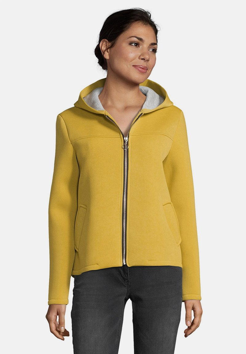 Amber & June - MIT KAPUZE - Zip-up hoodie - yellow