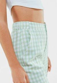 Bershka - Trousers - green - 3