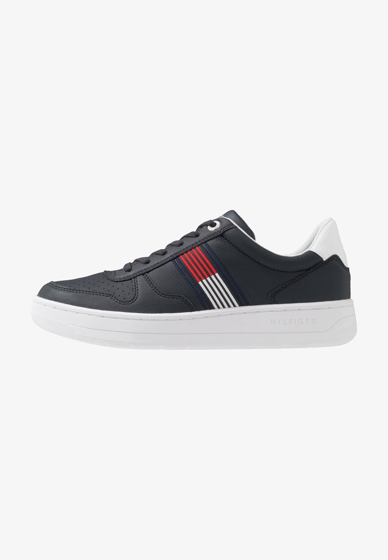 Tommy Hilfiger - BASKET LOW CUPSOLE - Trainers - blue