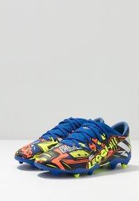 adidas Performance - NEMEZIZ MESSI 19.3 FG - Moulded stud football boots - royal blue/silver metallic/solar yellow - 3