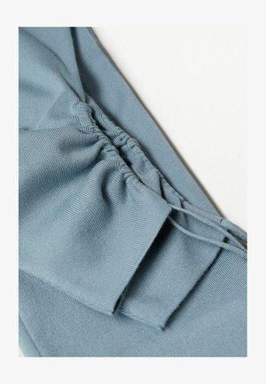 FRUNCIDO - Trousers - azul