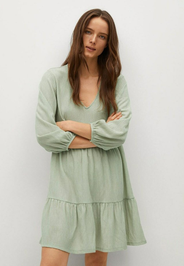 Korte jurk - pastellgrün