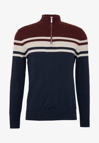 Burton Menswear London - YOKE HALF ZIP - Trui - purple - 3