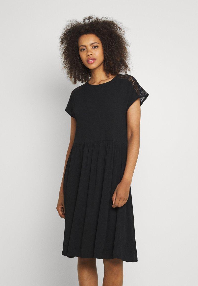 Vero Moda - VMNANCY KNEE DRESS - Day dress - black