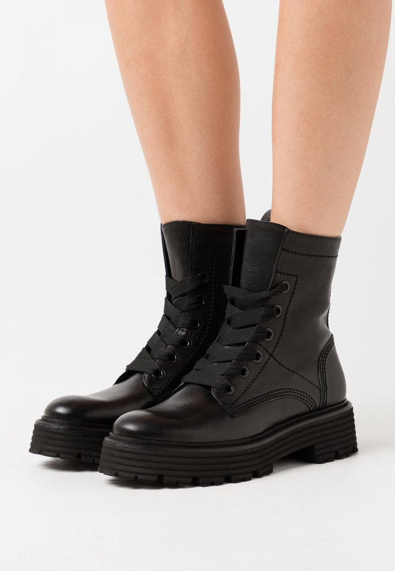 Kennel + Schmenger - POWER - Platform ankle boots - schwarz